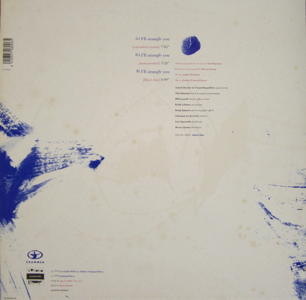 Hector Zazou I'll Strangle You - Sahara Blue